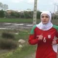 دختر نکایی با شعار حمایت از مرزبانان کشورمان هفت کیلومتر دوید