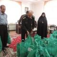 توزیع ۲۰۰ کیسه همیان مولا توسط حوزه های بسیج خواهران نکا/عکس