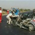 برخورد خودرو پژو ۲۰۶ با عزاداران حسینی در قائمشهر