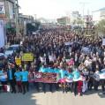حماسه ی دیگر از مردم نکا در راهپیمایی ۲۲ بهمن+تصویر