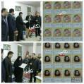 قدردانی اداره پست از خبرنگاران نکا با اهدای تمبر شخصی