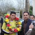 استقبال گرم مردم نکا ازمرد طلایی مازندران / گزارش مصور