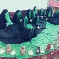 خطبه خوانی عقیله بنی هاشم حضرت زینب (س)درنودهک برگزارشد