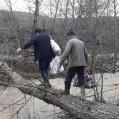 ارتباط روستای تلم دربخش هزارجریب نکا قطع شد/ تصویر