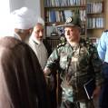 پرسنل پادگان شهدای ارتش با امام جمعه نکا دیدار کردند/تصویر