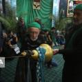 آیین رخت پوشی علم در حسینیه سیدالشهدای نکا/ تصویر