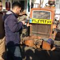 اجرای طرح پلاک گذاری ماشین آلات کشاورزی درنکا/ تصویر
