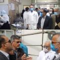 بازدید رئیس دانشگاه علوم پزشکی مازندران از مرکز آموزشی درمانی رازی قائمشهر