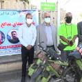 پدرسایکل توریست ایران به یاد شهدای سلامت نکا نهال کاشت